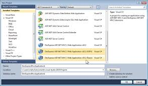 asp net mvc 3 project templates razor support and empty