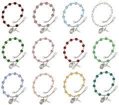 birthstone rosary silver plate birthstone rosary bracelet by bliss