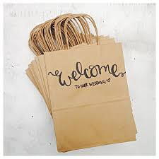 welcome to our wedding bags welcome to our wedding rustic wedding guest hotel favor kraft