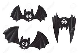 Bat For Halloween Set Of Cartoon Style Bats Royalty Free Cliparts Vectors And