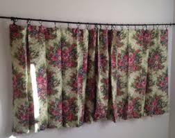 vintage curtains u0026 window treatments etsy