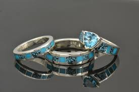 turquoise and wedding ring turquoise engagement rings and wedding rings shop turquoise rings