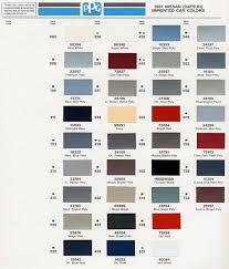 nissan paint color names