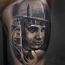 Al Capone Tattoos Capone Chicago Skyline Painting Kool Stuff