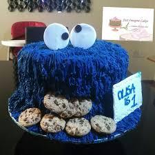 cookie monster themed birthday cake u2013 just imagine