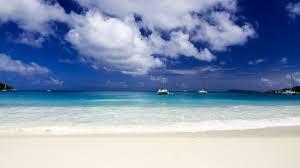 beach dream beach white sand boats clouds dreambeach wallpaper
