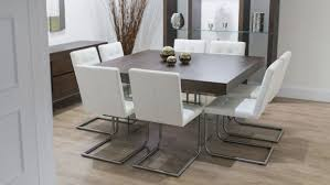 small dining room spaces with square dining table design and white