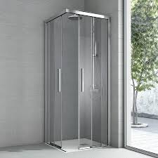 shower cabin in glass with anti limescale treatment idfdesign