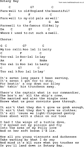 top 1000 folk and old time songs collection botany bay lyrics