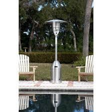 Fire Sense Mocha Patio Heater by Fire Sense 47000 Btu Stainless Steel Propane Gas Patio Heater
