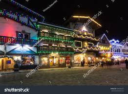 leavenworth wa light festival leavenworth wa december 10th 2016 christmas stock photo 534935227