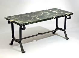Art Deco Coffee Table by French Wrought Iron Art Deco Coffee Table C 1937 Modernism