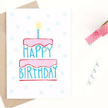 Birthday Card Happy Birthday Card Hand Drawn Happy Birthday And Envelopes