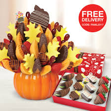 fresh fall gifts chocolate salted caramel edible arrangements