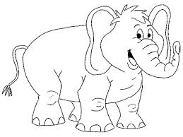 cartoon elephant coloring pages getcoloringpages com