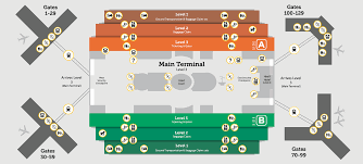 Miami International Airport Terminal Map by Disabled Access Orlando International Aiport Mco