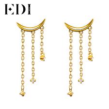 real diamond earrings edi unique real diamond moon drop earrings for women 14k