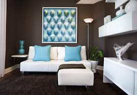 Blue Livingroom Fine Brown And Blue Living Room Home Design Lover Inside Decor