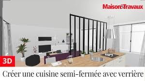 creer sa cuisine ma maison en 3d créer une cuisine semi fermée avec une verrière