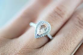 morganite engagement ring white gold 14k white gold cushion cut morganite halo engagement ring
