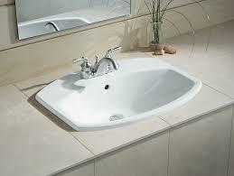 Overmount Bathroom Sink Cimarron Drop In Sink With 4 Inch Centers K 2351 4 Kohler