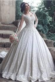 Long Sleeve Wedding Dresses Beautiful Long Sleeve Lace 2017 Wedding Dress Ball Gown Floor