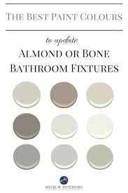 Paint Bathroom Fixtures by The Best Paint Colours To Update A Bathroom With Almond Or Bone