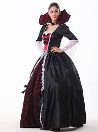 ensen witch black gothic queen dress halloween costumes for