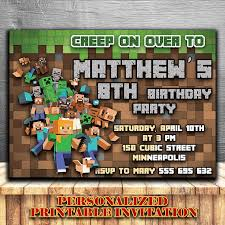 minecraft birthday invitations minecraft birthday invitation minecraft invitations minecraft