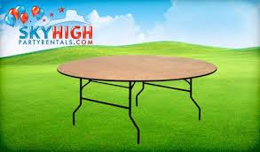 Round Table Rentals by 6ft Round Banquet Table Rentals Sales Sky High Party Rentals