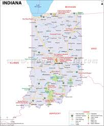 United States Map With Cities And States by Indiana Map Showing The Major Travel Attractions Including Cities