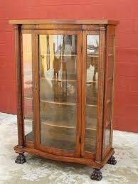 antique bow front china cabinet display cabinet antique furniture