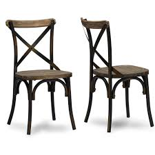 Commercial Dining Room Chairs Baxton Studio Konstanze Industrial Walnut Wood And Metal Dining