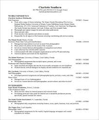 sample photographer resume photographer resume pdf photographer