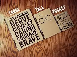 harry potter notebook hogwarts hufflepuff gryffindor slytherin