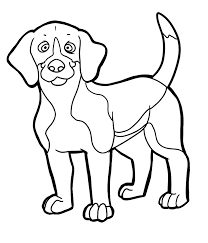 beagle with puppies coloring page inside pages inside puppy
