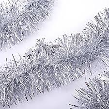 silver 100 tinsel garland health and personal care