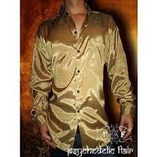men u0027s gold long sleeve synthetic thai silk casual dress shir