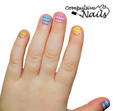 pastel chevron kids nail wraps nail stickers hand nail art