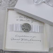 luxury wedding anniversary card 60th wedding