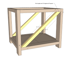 Free Simple End Table Plans by Ana White Rustic X End Table Diy Projects