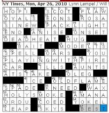 Light Brown Crossword Rex Parker Does The Nyt Crossword Puzzle April 2010