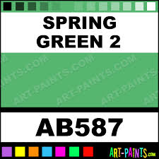 spring green 2 artist acrylic paints ab587 spring green 2