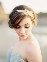 gold hair accessories gold hairpiece gold hair accessories featured on wedding sparrow