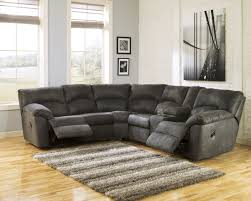 Sectional Living Room Sets Tambo Pewter Reclining Sectional From Coleman Furniture