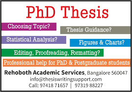 PhD Thesis Writing Support   Statistical Analysis   Copyediting     PhD Thesis Help