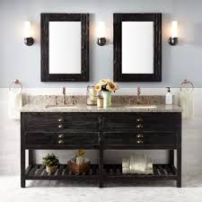 bathroom vanities awesome double vanity cabinet distressed pine