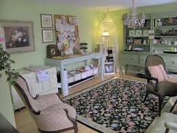 peastone my pistachio and pink workroom i was considering doing