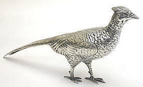 antique figural silver pheasant bird ornament item 699829