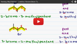 naming alkyl halides organic chemistry video tutorial